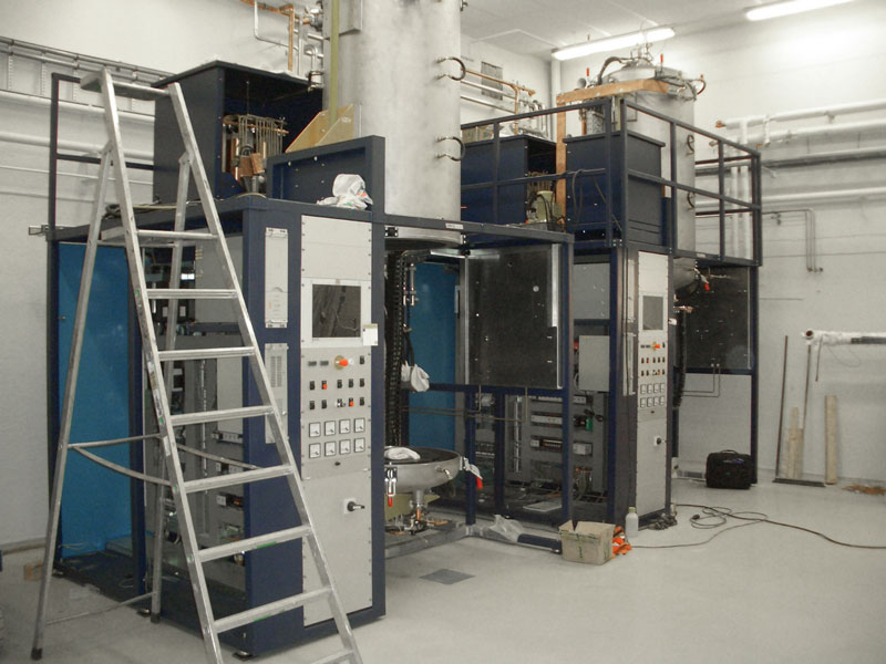 two installed sintering furnaces